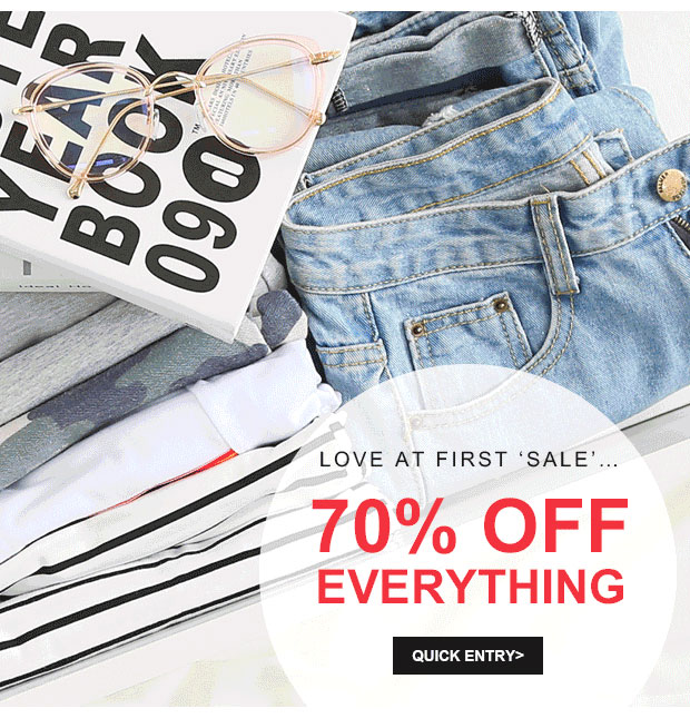 70% OFF EVERYTHING, dive into a pool of savings